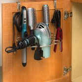 Found it at Wayfair - myBella Over the Cabinet Door Deluxe Styling Rack