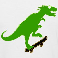 3Skate-o-saur for fun !