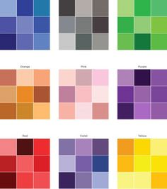 This color variation sheet from Creating Keepsakes, can help you to select colours to use on monochromatic pages. I think it would also come in very useful for ombre type projects