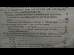 50 important California DMV written knowledge test questions and ...