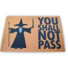 """Capacho """"You shall not pass"""""""