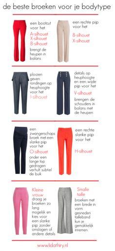 De beste broeken voor je bodytype   www.lidathiry.nl   klik op de foto voor meer tips #BesteBroekVoorJeBodytype