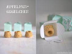 """vegane apfelmus-gugelchen """"Der kleine Backbube Gugelhupf Adventskalender"""" - 11.Türchen"""