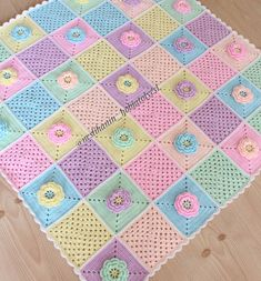Crochet Bedspread, Baby Afghan Crochet, Manta Crochet, Crochet Blanket Patterns, Baby Knitting Patterns, Crochet Panda, Crochet Box, Crochet Motif, Crochet For Kids