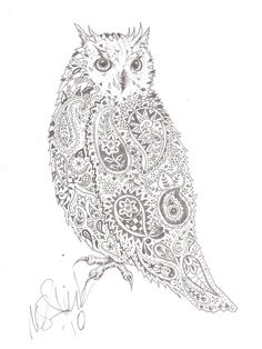 Paisley owl by mcalick Pinned by www.myowlbarn.com