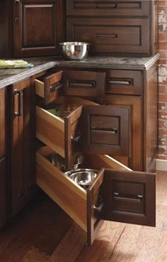 Three Drawer Corner Cabinet... So much better than the lazy susans!!!