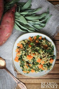 Roasted Sweet Potato, Tuscan Kale, and Millet Salad  {Beard and Bonnet} #glutenfree #vegan #projectlunchbox