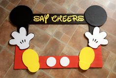 Photo prop in 2019 Minnie Mouse Party, Mickey Mouse Birthday Decorations, Fiesta Mickey Mouse, Mickey Mouse Baby Shower, Mickey Mouse Photo Booth, Mickey Party, Mickey Mouse Pinata, Disney Party Decorations, Mickey Mouse Balloons
