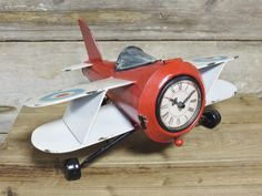 Retro Aeroplane Clock from Olive and Sage