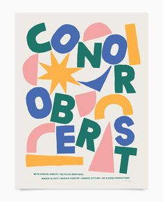 Conor Oberst (With images) Graphic Design Branding, Graphic Design Posters, Graphic Design Illustration, Graphic Design Inspiration, Logo Design, Poster Designs, Poster S, Typography Poster, Poster Prints