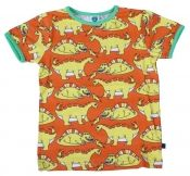 Dinosaurs T-shirt  Orange