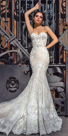 Mermaid Wedding Dress #laceweddingdresses