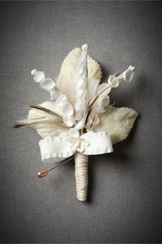 Lily-Of-The-Valley Boutonniere from BHLDN