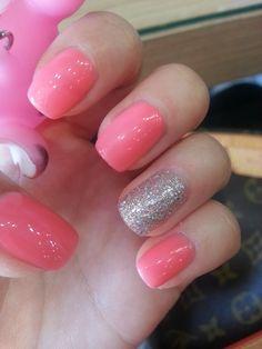 neon pink nail
