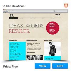 Public Relations Website Template