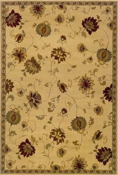 Judson Ivory Green Area Rug