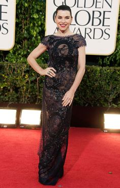 Julianna Margulies arrives at the 70th Annual Golden Globe Awards - Again, the back of this (or lack thereof) was stunning!