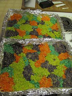 scooby doo party- tye dye rice krispie treats