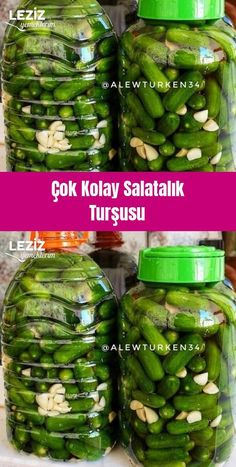 Very Easy Cucumber Pickles - My Delicious Food - Healthy Healthy Foods To Eat, Healthy Eating, Healthy Recipes, Food L, Food Porn, Pickling Cucumbers, Turkish Recipes, Pickles, Health And Wellness