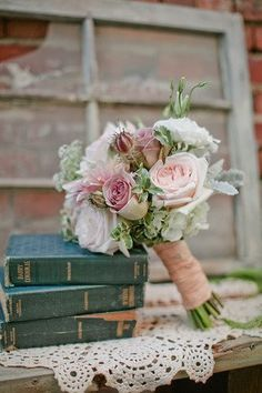 Romantic Rose Bouquets Wedding Flowers Photos on WeddingWire