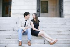In between fancy and casual  Portland engagement shoot  Photographer: Lara Kimmerer