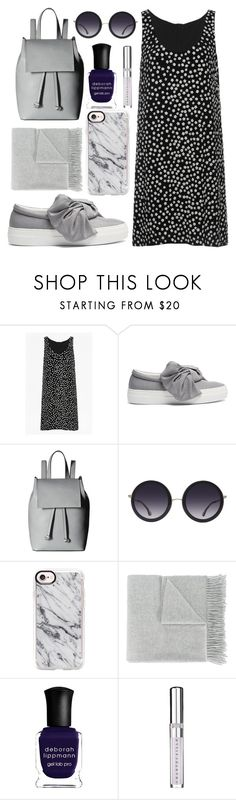 """""""Day Trippin"""" by lauraleeanne ❤ liked on Polyvore featuring French Connection, Joshua's, Alice + Olivia, Casetify, Acne Studios, Deborah Lippmann and Chantecaille"""