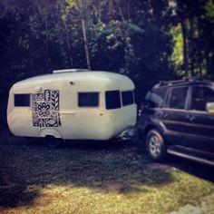Our 1960s Sunliner vintage caravan..AAAAHHH! So cute!