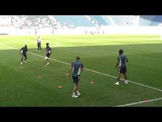 Tottenham Hotspur one touch drills - YouTube
