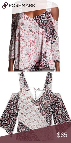Rebecca Minkoff Catriona Top in Tricolor Shoulder cutouts add flirty style to this swingy Rebecca Minkoff top. Fabric ties cinch the back. 3/4 sleeves. Fully lined. Brand new with tags. Rebecca Minkoff Tops Blouses