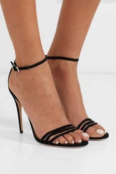 8c0e20247be Gucci - Crystal-embellished suede sandals
