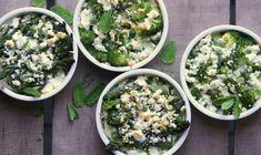 broccoli- en aspergetaartjes met feta en munt