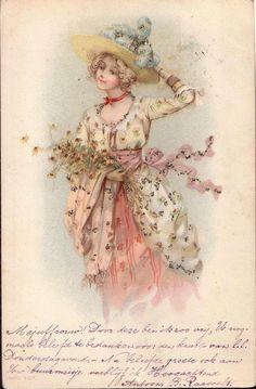 soyouthinkyoucansee: Vintage pc dame -lady 1902 ( handwriting in Dutch) Vintage Labels, Vintage Ephemera, Vintage Postcards, Vintage Crafts, Vintage Paper, Vintage Art, Look Vintage, Vintage Girls, Vintage Woman