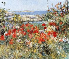 Celia Thaxter's Garden, Isles of Shoals, Maine by Frederick Childe Hassam