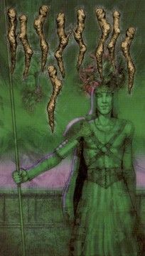 Nine Of Wands, Symbolic Art, Tarot Decks, Tarot Cards, Reflection, Aster, Painting, Cinnamon, Essential Oils