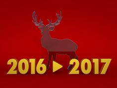 From 2016 to 2017 / reindeer/ Clip Art / image / icon