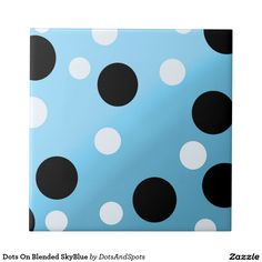 Dots On Blended SkyBlue Small Square Tile