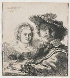 Zelfportret met Saskia, Rembrandt Harmensz. van Rijn, 1636