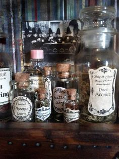 potions cabinet miniature