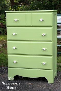 Green Dresser Makeover