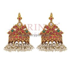 Antique ruby jumka ~ Gold Jewellery Designs