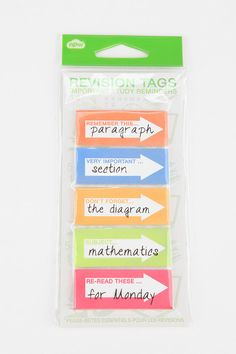 Get The Hint Sticky Notes - Set Of 5 #urbanoutfitters