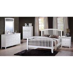 """Lawson"" White 6-Piece Queen Bedroom Set"