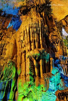 Reed Flute Cave, Guilin, Guanghi, China beautiful would love to go check this place out