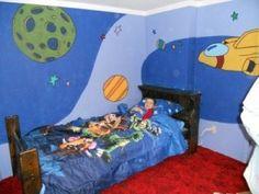 DIY Kid's Space Wall Mural