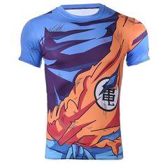 T-shirt Dragon Ball Z -Goku Uniform Outfit Battle Damaged Workout Compression 3D T-Shirt