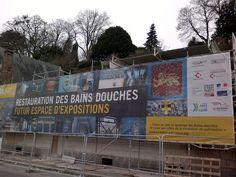 bains-douches Laval futur espace d'expositions Laval, Expositions, Loire, Signs, Exhibition Space, Future, Shop Signs, Sign, Dishes