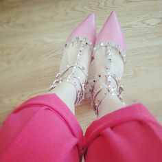Pink Valentino Rockstud shoes