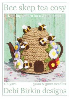 Bee Skep.. pdf e-mail cosy knitting pattern by debi birkin - sold