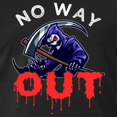 Grim Reaper | No Way Out - Men's Premium T-Shirt Usa Holidays, No Way Out, Grim Reaper, Halloween 2018, Trick Or Treat, Darth Vader, Fancy, Hoodies, Celebrities