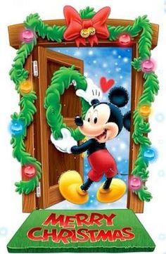 New Ideas Quotes Disney Mickey Mouse Disney Merry Christmas, Mickey Mouse Christmas, Christmas Cartoons, Mickey Mouse And Friends, Mickey Minnie Mouse, Merry Xmas, Christmas Scenes, Noel Christmas, Christmas Greetings